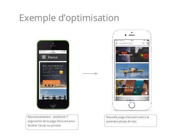 Recommandation : améliorer l' ergonomie de la page d'accueil pour faciliter l'accès au produit Nouvelle page d'accueil sui...