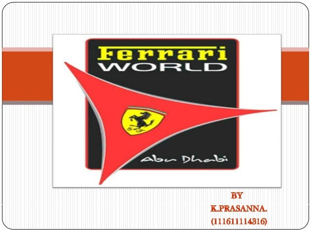  Ferrari World is a Ferrari themed amusement park on yas island in Abu Dhabi.  The central park is situated under a 200,...