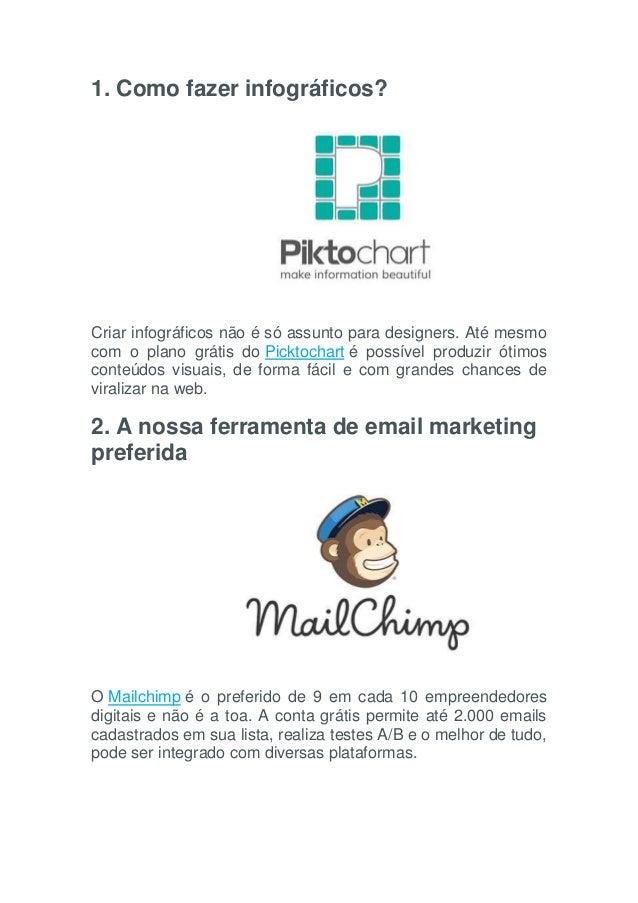 1. Como fazer infográficos? Criar infográficos não é só assunto para designers. Até mesmo com o plano grátis do Picktochar...