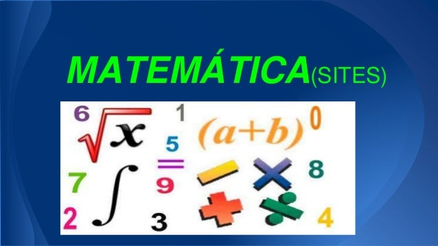 MATEMÁTICA(SITES)