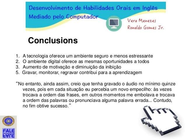 Conectando a fala:  tarefas com ferramentas digitais para o desenvolvimento de habilidades orais em inglês
