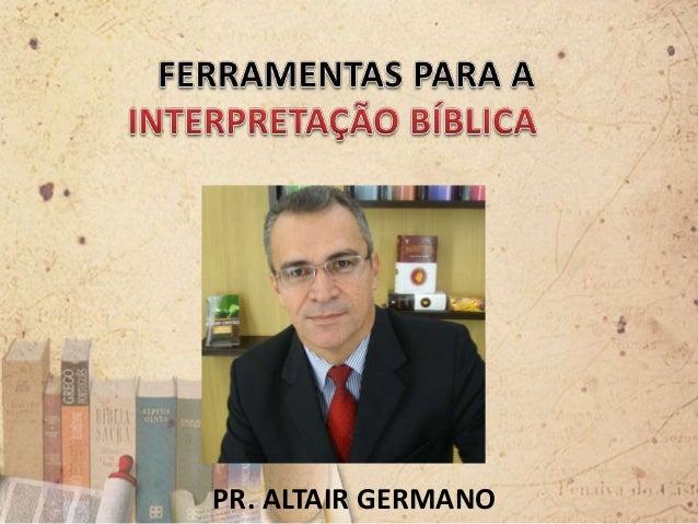 PR. ALTAIR GERMANO