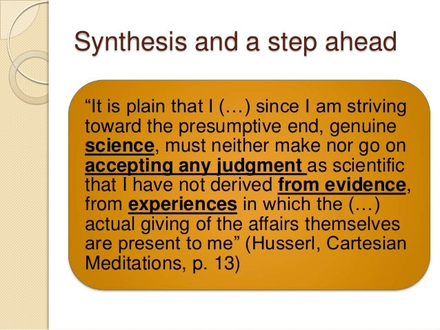 an analysis of descartes meditation in cogio ergo sum Philosophy 101 descartes quiz 2 study to exist, according to descartes in the 5th meditation, is: cogito ergo sum does not prove-descartes exists-that i existed yesterday or that i will exist tomorrow if i am thinking at this moment, then.