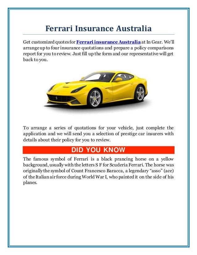 Ferrari Insurance Australia