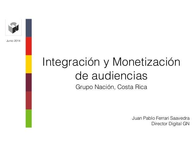 Integración y Monetización de audiencias Grupo Nación, Costa Rica Junio 2014 Juan Pablo Ferrari Saavedra Director Digital ...