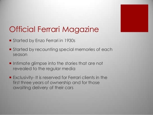 ferrari ppt Major theme parks are going indoors anchored by shopping malls, hotels,  and ferrari world, now ranked 2 nd largest, is an indoor theme park with 925,000 sf.