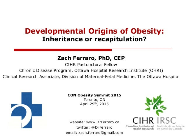 Zach Ferraro, PhD, CEP CIHR Postdoctoral Fellow Chronic Disease Program, Ottawa Hospital Research Institute (OHRI) Clinica...