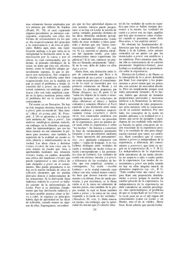 juicios sintéticos a priori. Así, lo a priori no es siempre solamente analí- tico. Si fuese tal, ningún conocimiento relat...