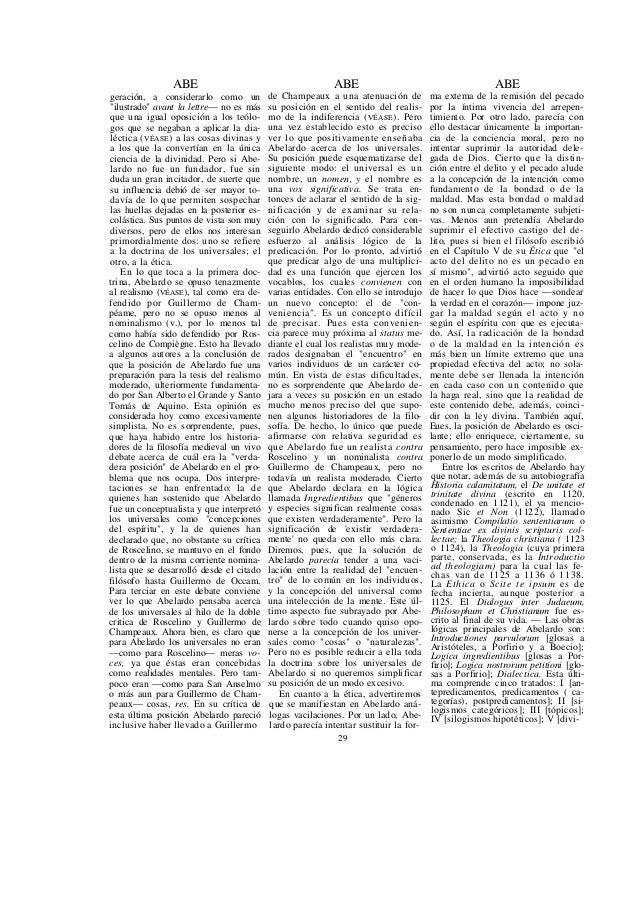 ABE sión y definición], — Ediciones de Abelardo: Petri Abelardi Opera, Pa- risiis, 1616, por Ambroise, muy in- completa; O...