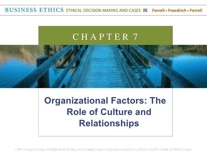 <ul><li>Organizational Factors: The Role of Culture and Relationships </li></ul>C H A P T E R  7