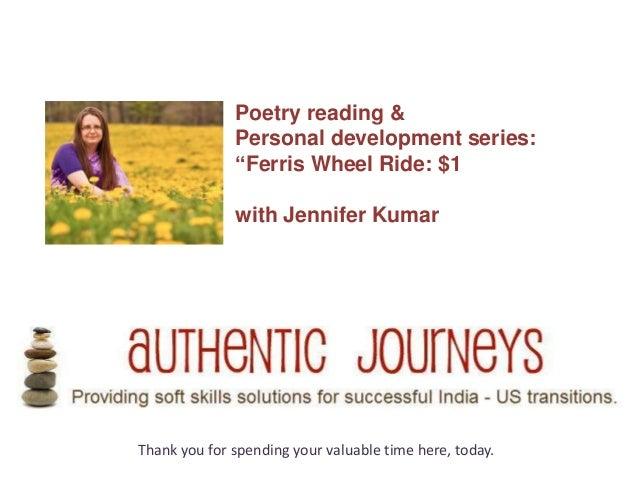 "Poetry reading &              Personal development series:              ""Ferris Wheel Ride: $1              with Jennifer ..."