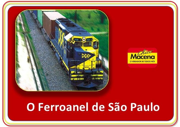 O Ferroanel de São Paulo<br />