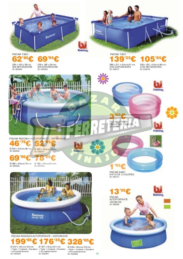 Ferro box verano 2014 for Piscinas bestway catalogo precios