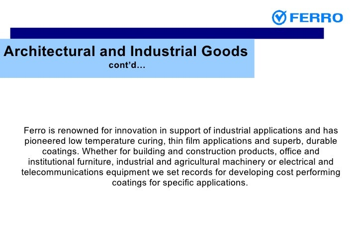 ... Industrial Goods; 44.