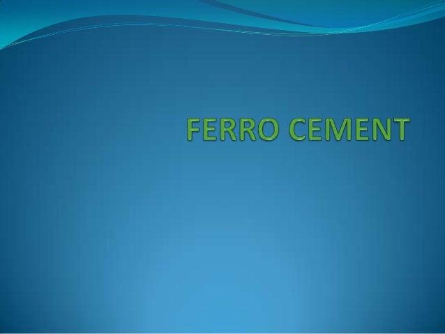 Ferrocement Ppt