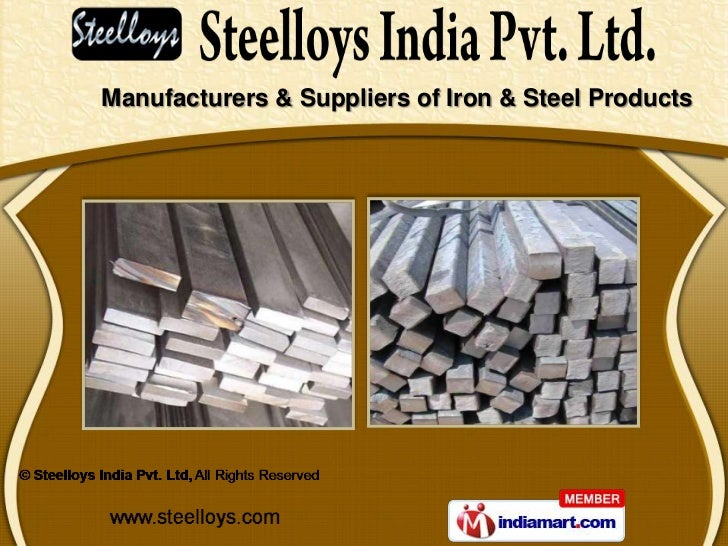 Manufacturers & Suppliers of Iron & Steel Products