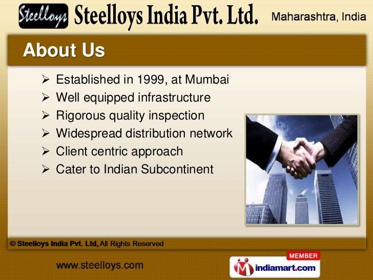 Ferrous Products by Steelloys India Pvt. Ltd, Mumbai Slide 2
