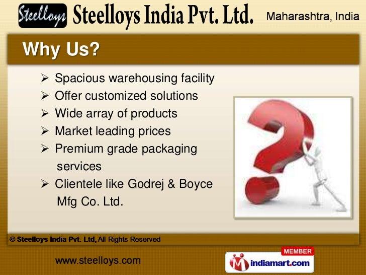 Ferrous Products by Steelloys India Pvt. Ltd, Mumbai Slide 3