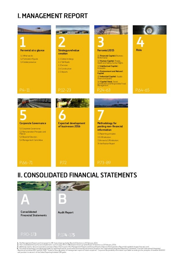 Ferrovial Integrated Annual Report 2015