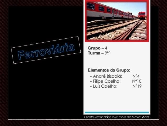 Grupo – 4 Turma – 9º1 Elementos do Grupo: - André Biscaia; Nº4 - Filipe Coelho; Nº10 - Luís Coelho; Nº19 Escola Secundária...