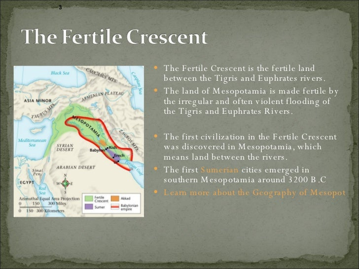 """impact of fertile crescent cultures The farming revolution taking root around 12,000 years ago, agriculture triggered such a change in society and the way in which people lived that its development has been dubbed the """"neolithic revolution""""."""