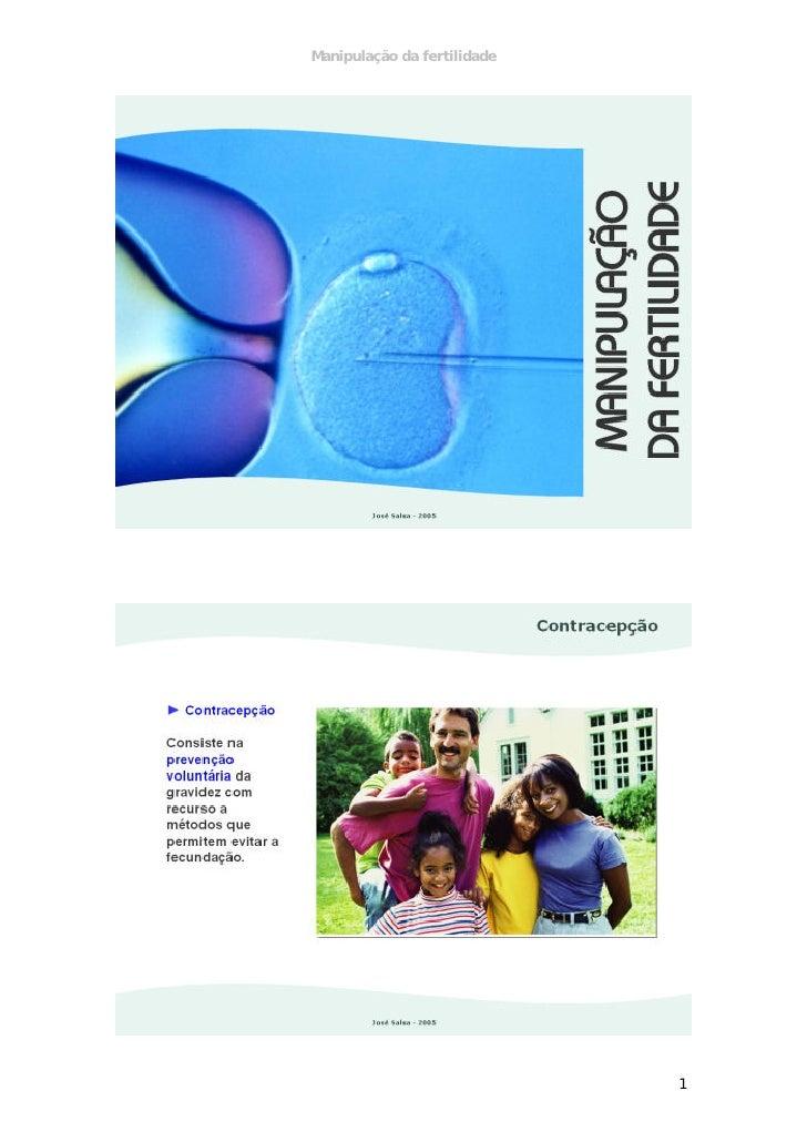 Manipulação da fertilidade                             1