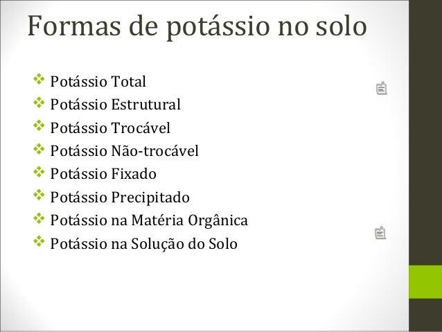 Fertilidade do solo   potássio Slide 3