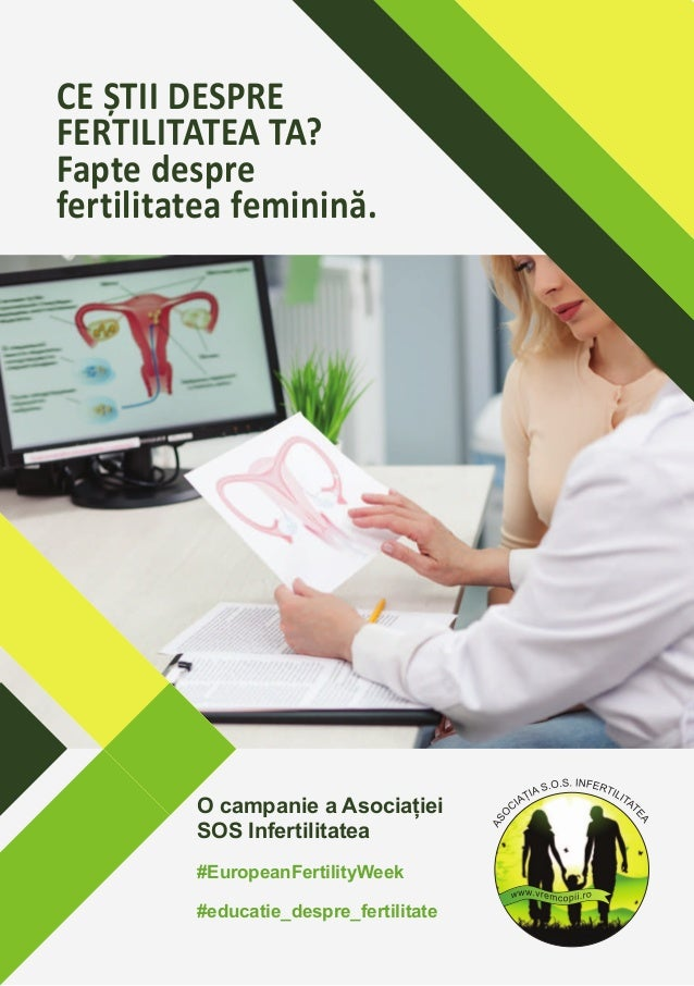 CE ȘTII DESPRE FERTILITATEA TA? Fapte despre fertilitatea feminină. O campanie a Asociației SOS Infertilitatea #EuropeanFe...