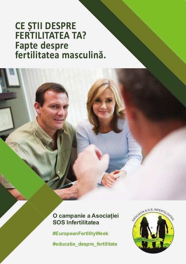 CE ȘTII DESPRE FERTILITATEA TA? Fapte despre fertilitatea masculină. O campanie a Asociației SOS Infertilitatea #EuropeanF...