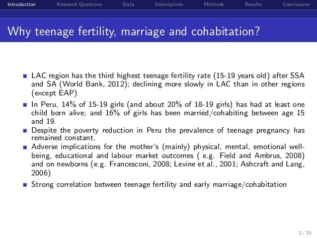 an analysis of the cohabitation While cohabitation is rising media content analysis and other empirical social science research pew research center does not take policy positions.