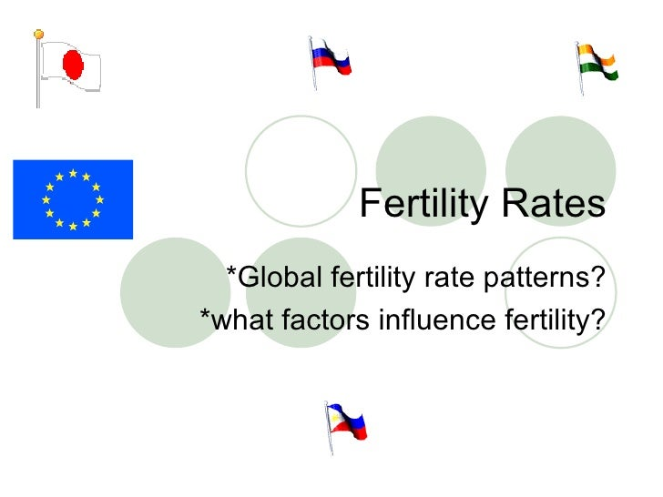 Fertility Rates *Global fertility rate patterns? *what factors influence fertility?