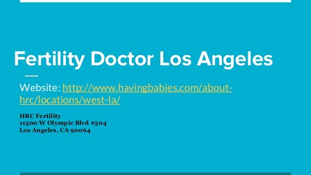 Fertility Doctor Los Angeles
