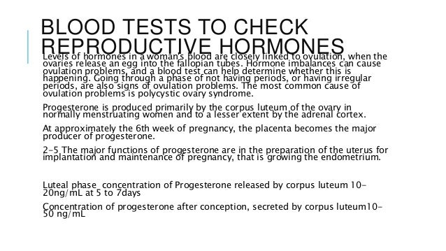 Fertility tests