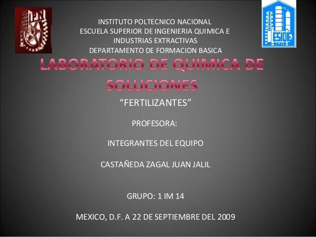 INSTITUTO POLTECNICO NACIONALESCUELA SUPERIOR DE INGENIERIA QUIMICA E         INDUSTRIAS EXTRACTIVAS  DEPARTAMENTO DE FORM...