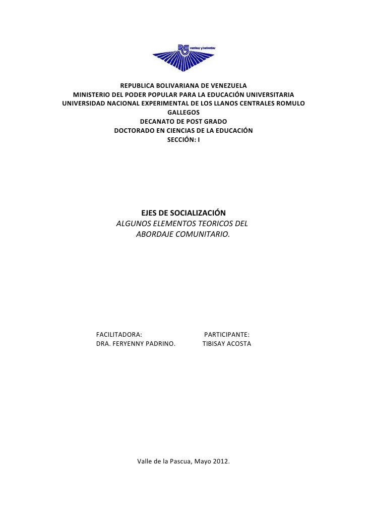 REPUBLICA BOLIVARIANA DE VENEZUELA   MINISTERIO DEL PODER POPULAR PARA LA EDUCACIÓN UNIVERSITARIAUNIVERSIDAD NACIONAL EXPE...