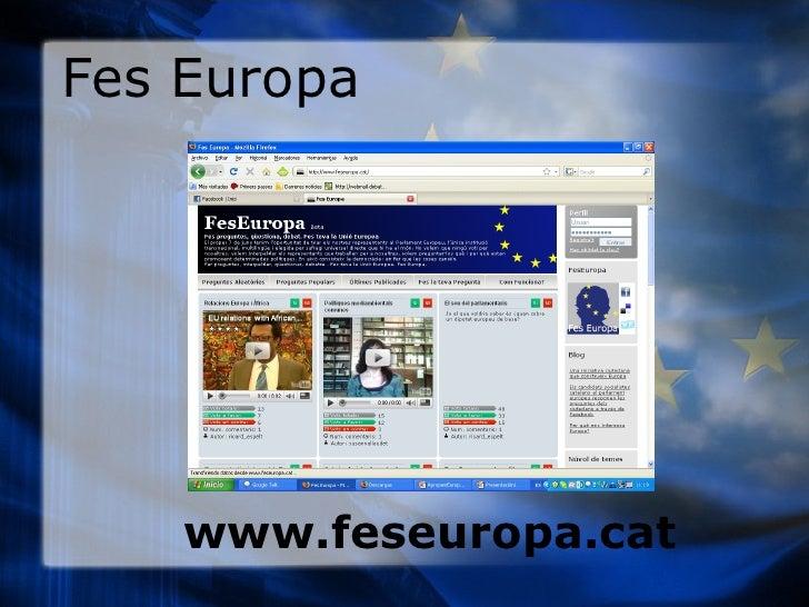 Fes Europa www.feseuropa.cat