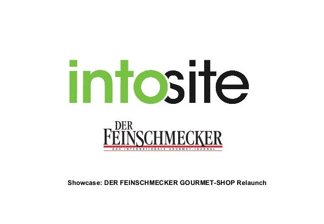 Showcase: DER FEINSCHMECKER GOURMET-SHOP Relaunch