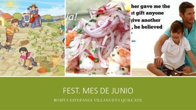FEST. MES DE JUNIO ROSITA ESTEFANIA VILLANUEVA QUILCATE