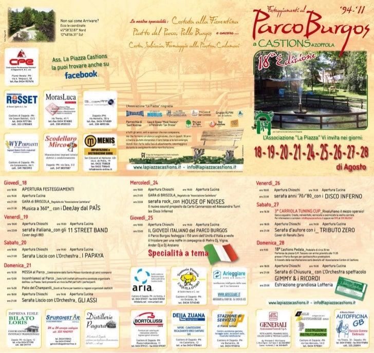 Festeggiamenti Parco Burgos 2011