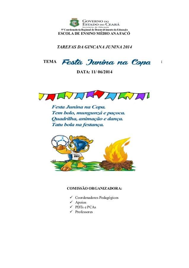 Festa Junina Na Copa