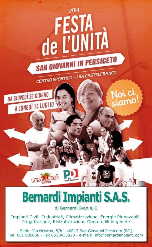 COPERTINA BernardiImpiantiS.A.S. di Bernardi Ivan & C Impianti Civili, Industriali, Climatizzazione, Energie Rinnovabili, ...