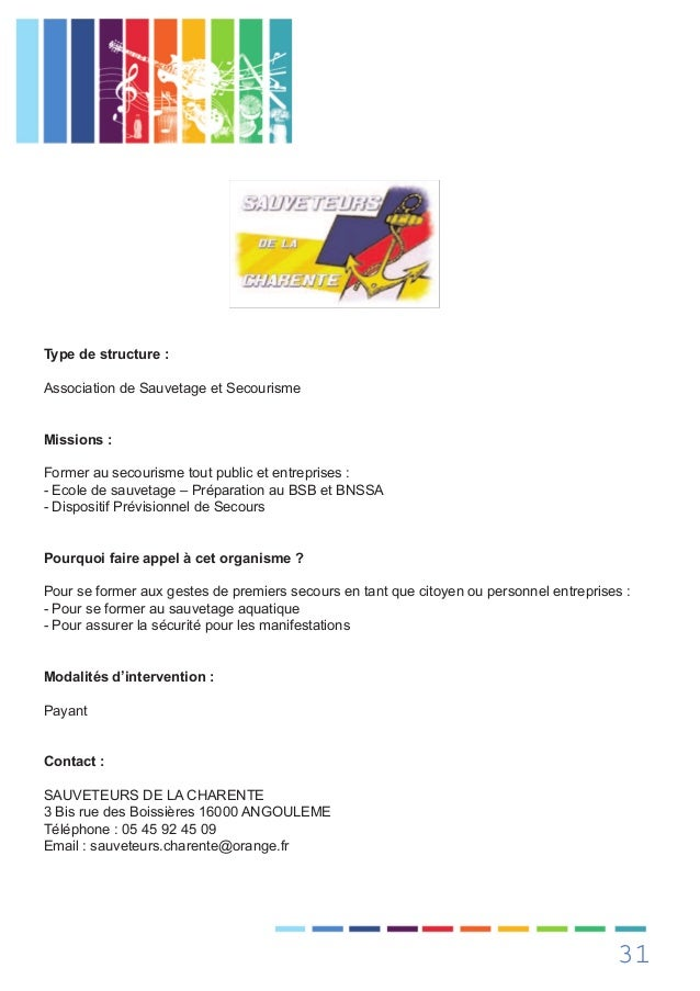 Guide festisante charente for Prefecture angouleme telephone