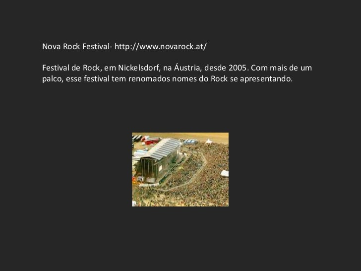 Nova Rock Festival- http://www.novarock.at/Festival de Rock, em Nickelsdorf, na Áustria, desde 2005. Com mais de umpalco, ...