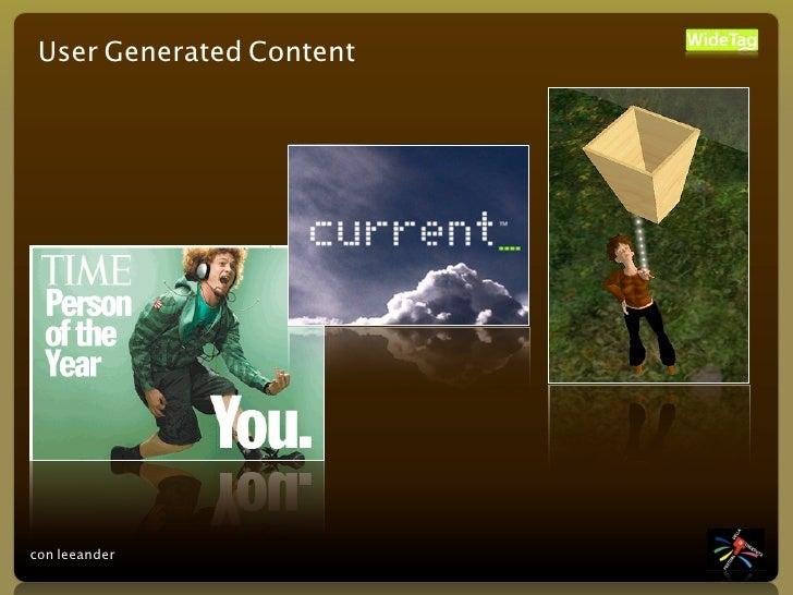User Generated Content     con leeander
