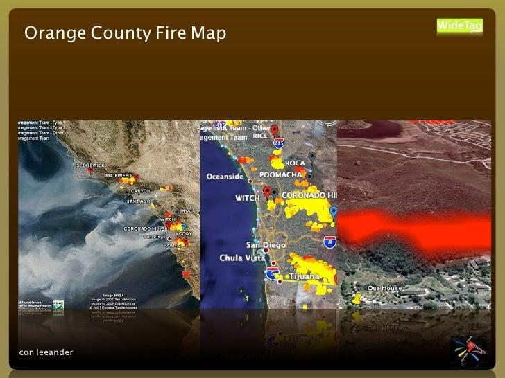 Orange County Fire Map     con leeander