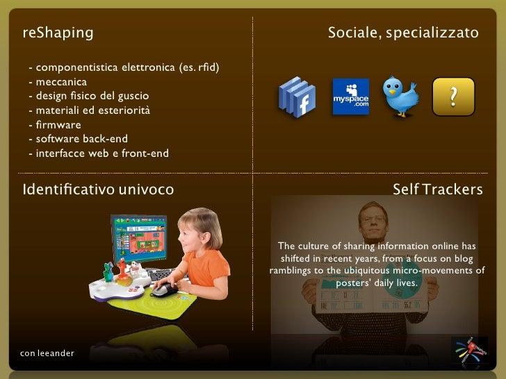 reShaping                                              Sociale, specializzato   - componentistica elettronica (es. rfid)  -...