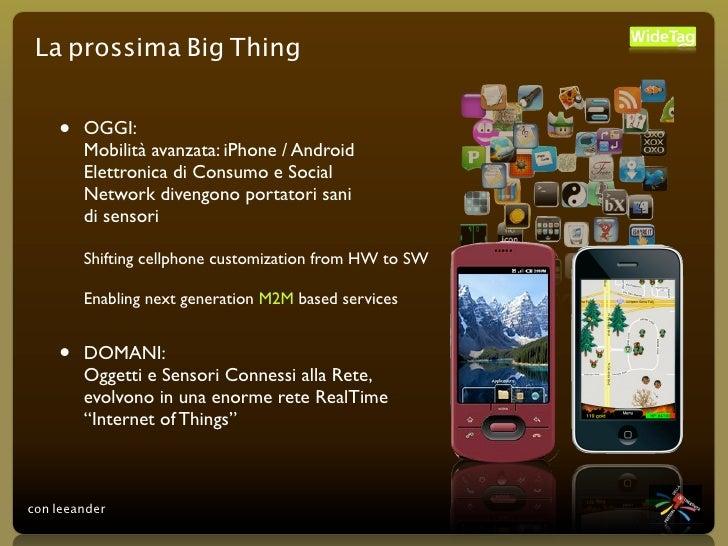 La prossima Big Thing       •   OGGI:         Mobilità avanzata: iPhone / Android         Elettronica di Consumo e Social ...