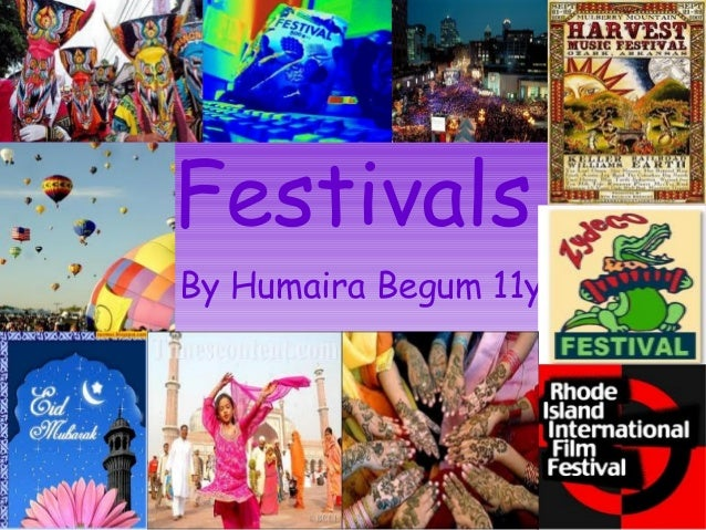 Festivals By Humaira Begum 11y