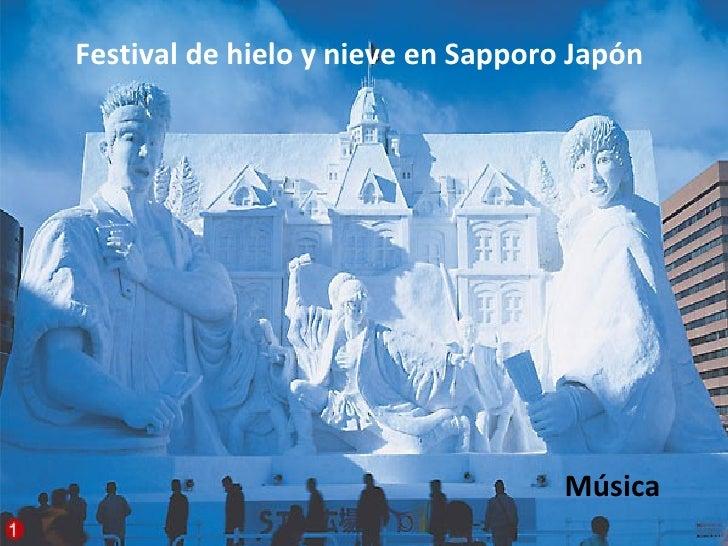 Festival de hielo y nieve en Sapporo Japón Música