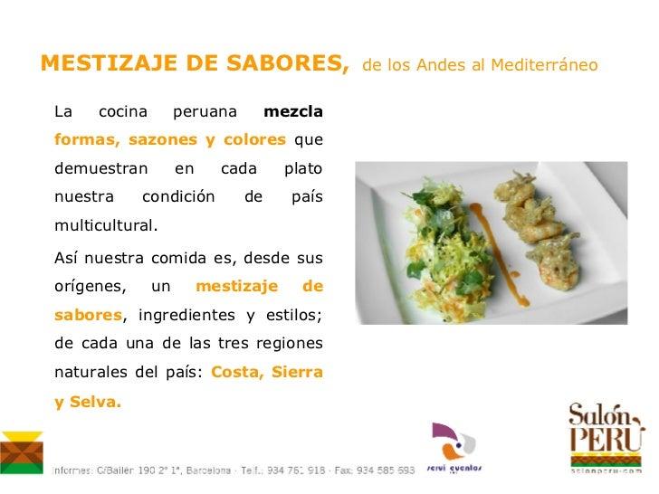 Festival gastron mico mestizaje de sabores for Definicion de gastronomia pdf